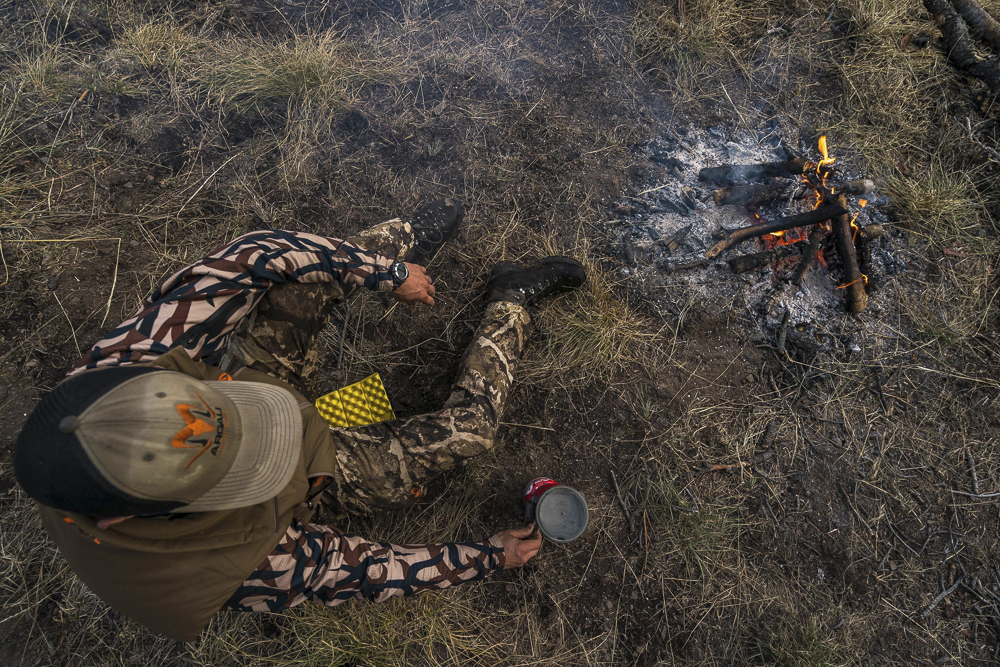 Building a fire in the backcountry